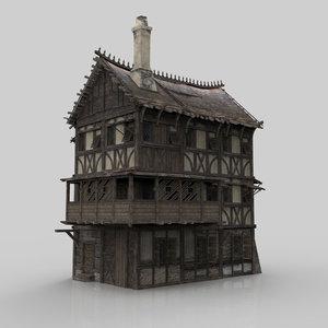 3D medieval house fantasy 07 model