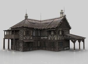 3D medieval house fantasy 10