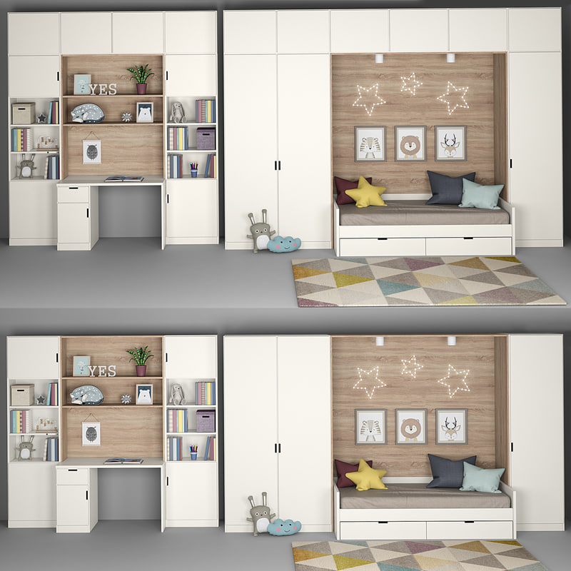 3D furniture children s room model
