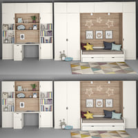 3D furniture children s room model