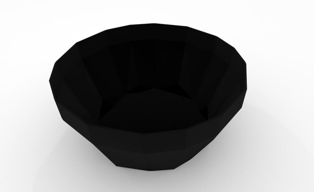 3D triangular pot s model