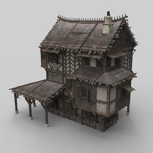 3D medieval house fantasy 13