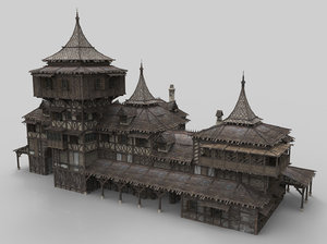 medieval house fantasy 21 3D