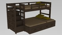 3D twin bunk bed
