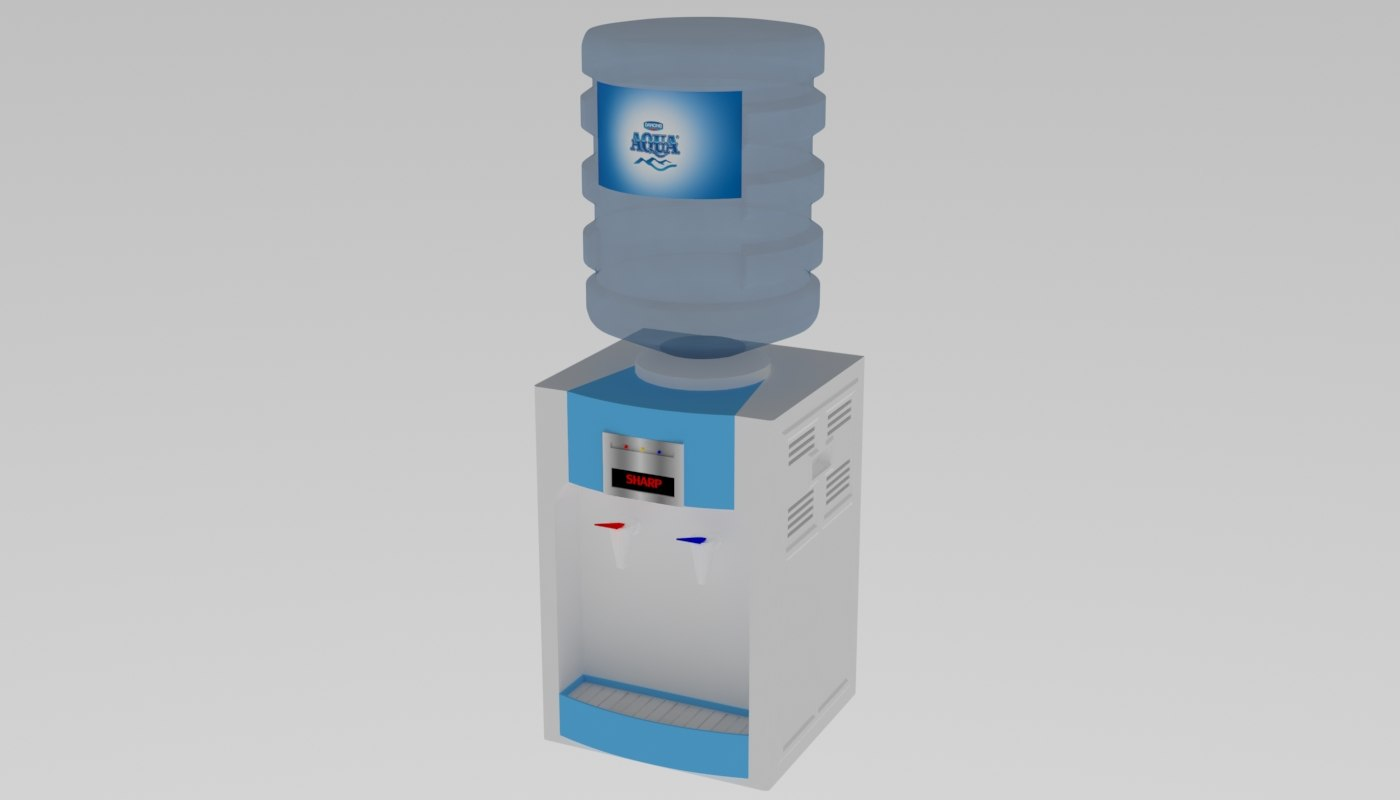 3D model water fountain