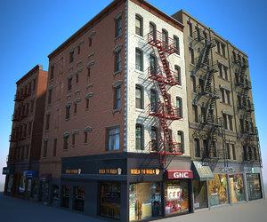 new york buildings east 3D model