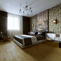 room bedroom loft 3D model