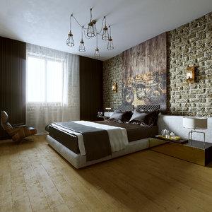 room bedroom loft 3D model