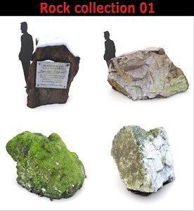 rock forest nature 3D model