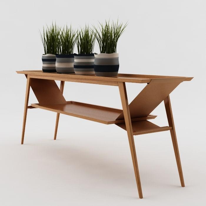 buffet furniture living 3D