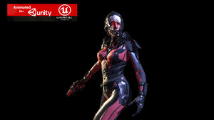 girl suit character 3D model