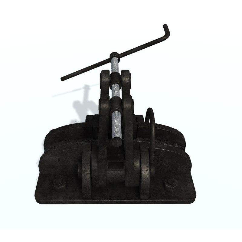 3D screw stopper model