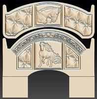 horse headboard bed stl 3D model