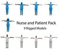 Nurse & Patient Pack (Rigged)