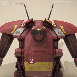 3D model sci-fi mech