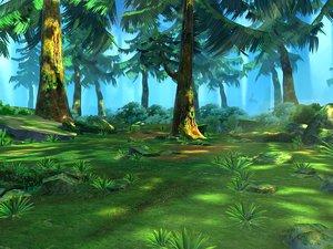 3D forest scene