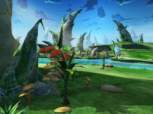 forest scene stone 3D model