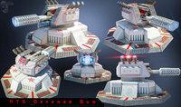 defense gun 3D model