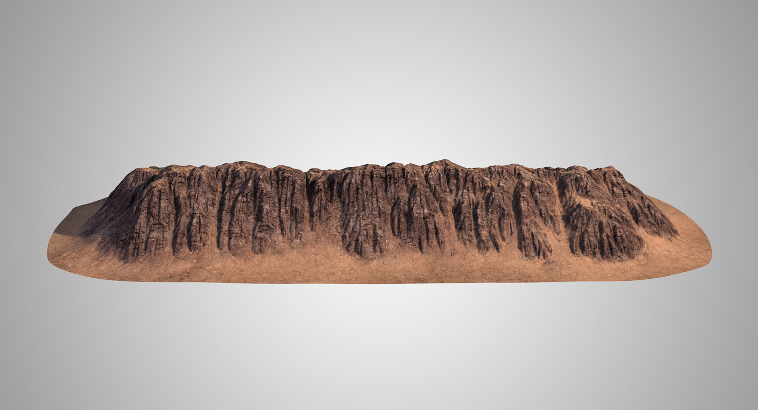 mountain ridge 3D model