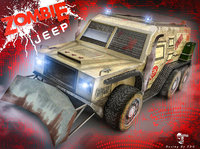 zombie jeep 3D model