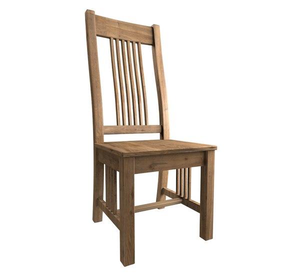 3D oak dining chair