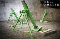 mortar gun 3D