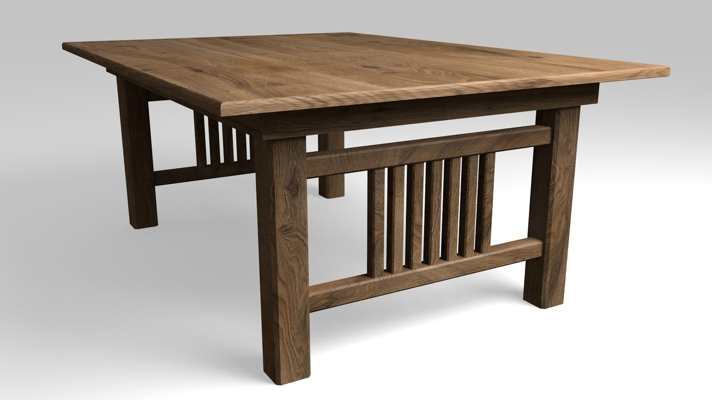 3D oak table dining