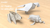 paper animal 3D model