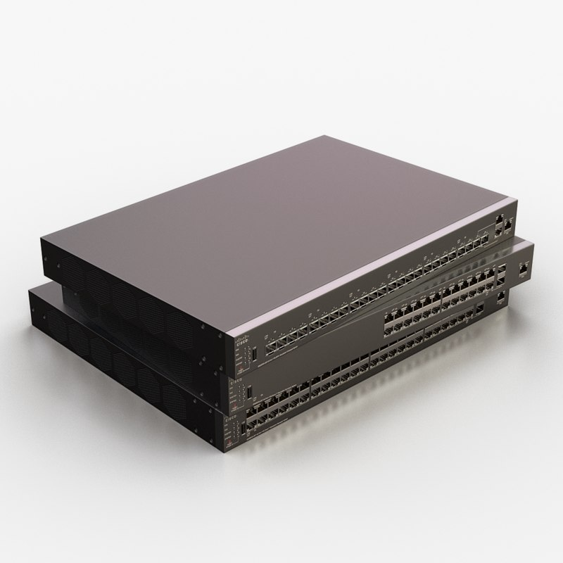 cisco network switch 3D model