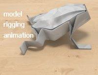 frog paper 3D