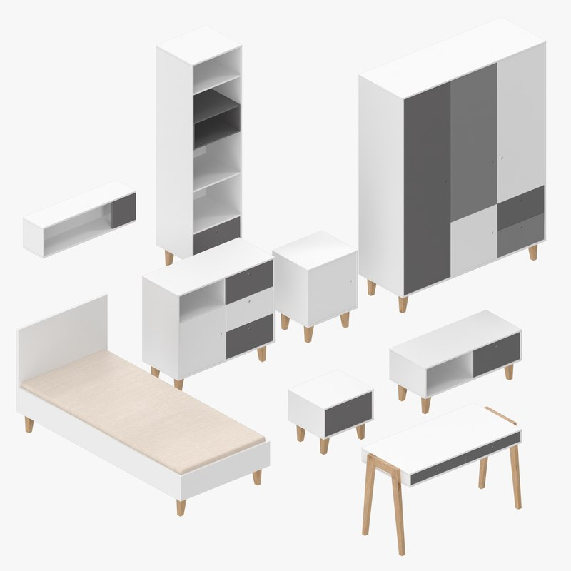 modern furniture 3D model
