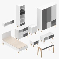 modern furniture 3D model