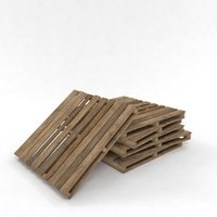 pallet wood wooden industrial 3D model