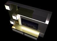 3D tv unit model