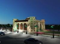 3D old castle saudi style