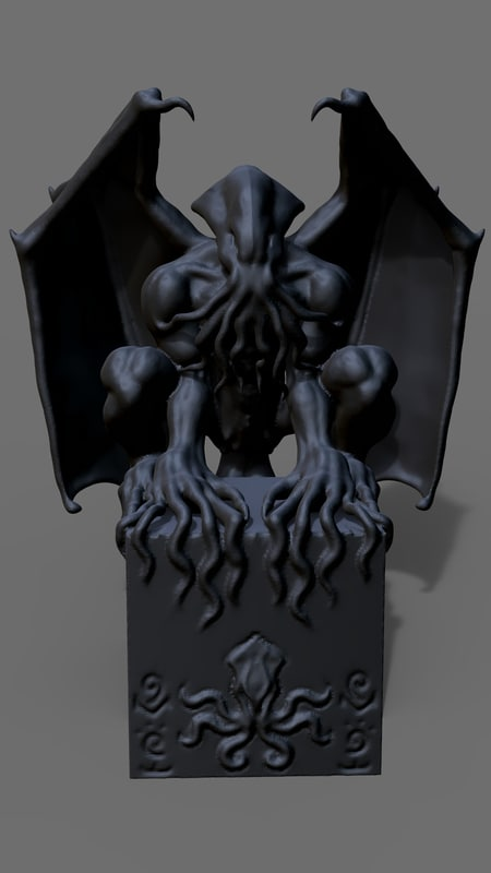 3D cthulhu cosmic entity model