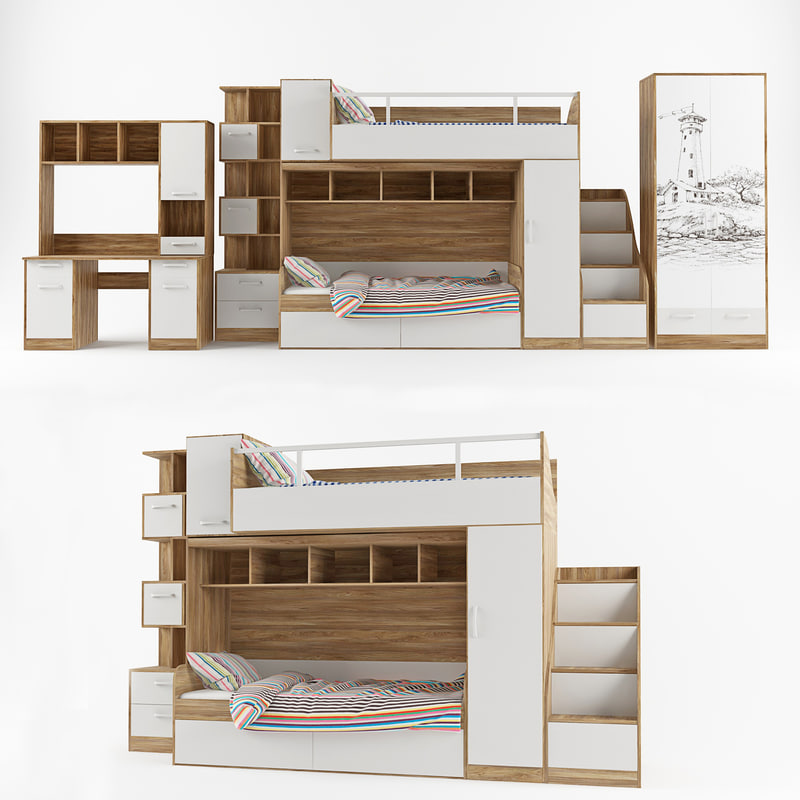 london bed table 3D model