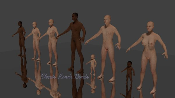 3D model ethnic black man