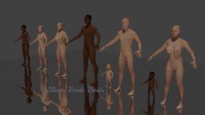 3D model ethnic black man