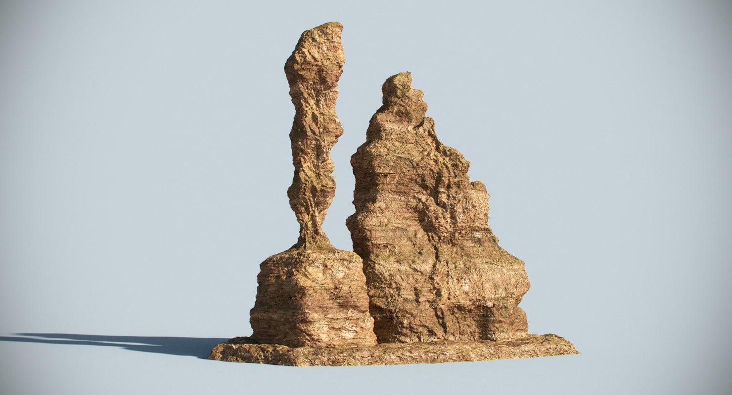 3ds max desert rock