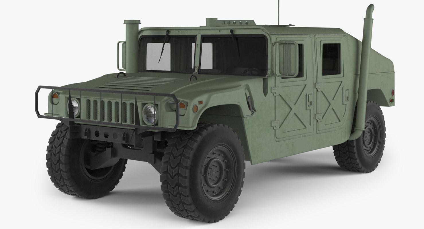 3D model humvee m1025