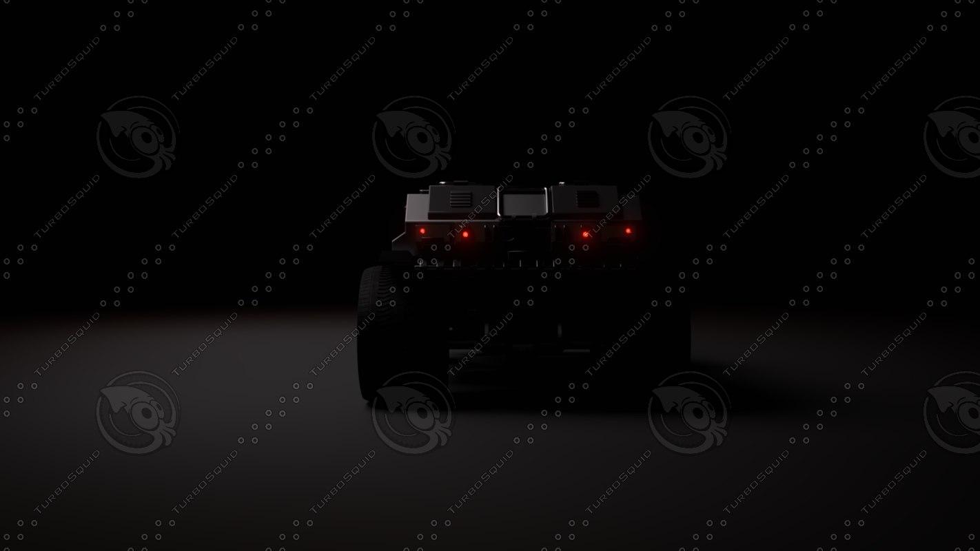 3D jeep ski-fi model