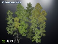 Game Ready Low Poly Trees