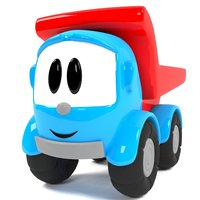 Tiny Toy Truck Character for Cartoons 3D model