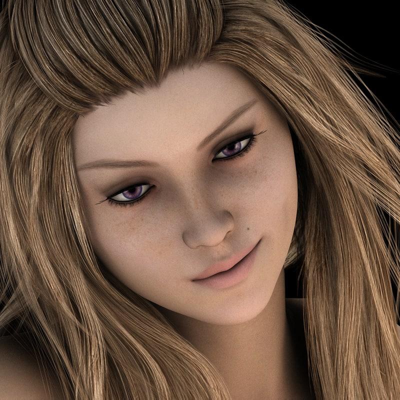 girl woman 3D