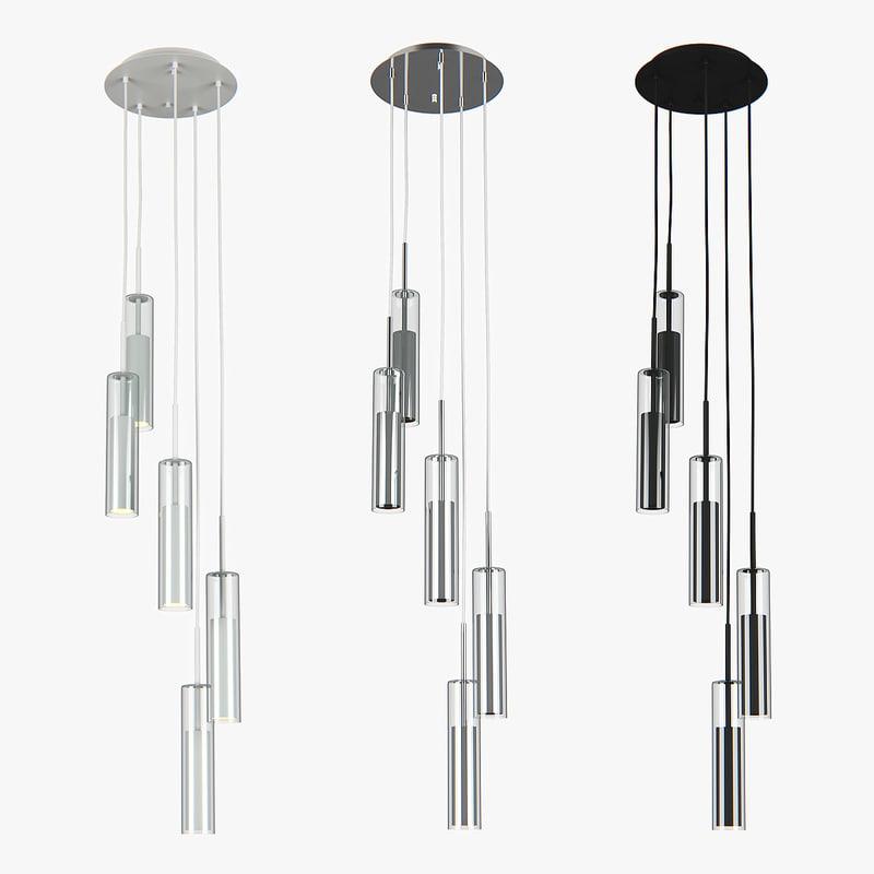 chandelier cilino lightstar 3D model