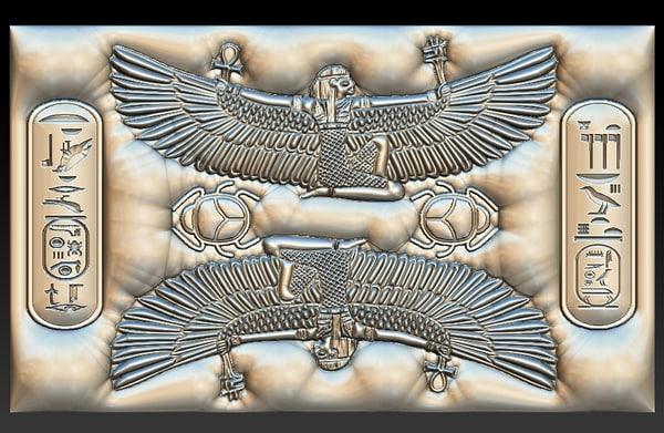 isis egyptian goddess stl model