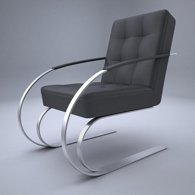 3D model armchair design modern