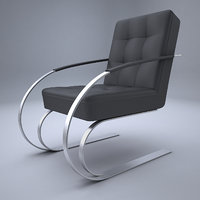3D model armchair design modern