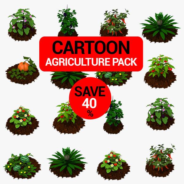 pack agricultural 3D model